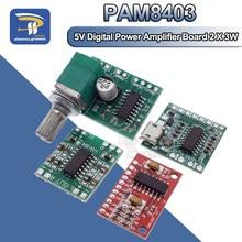 Pam8403 placa amplificadora, módulo digital, placa amplificadora de potência classe d, alta 2.5 ~ 5 fonte de alimentação usb v
