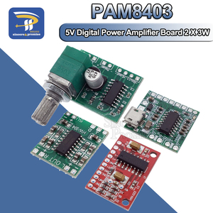 PAM8403 Module Digital Power Amplifier Board Miniature Class D Power Amplifier Board 2 * 3 W High 2.5 ~ 5 v USB Power Supply