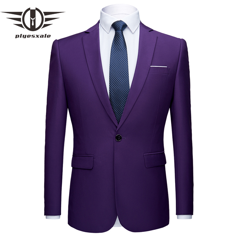 Mens Stylish Colorful Slim Fit Casual Blazer Jacket Green Purple Pink Champagne Yellow Wedding Prom Formal Blazers For Men Q142
