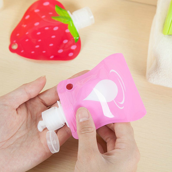 1 Pcs Mini Cute Fruit Portable Polymer Empty Shampoo Bottle For Traveler Cosmetic Cream Travel accessories 6 Styles