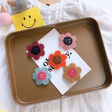 Korean Flower Smile Face Cute Kids Children Girls Fall Winter BB Hairpins Hair clips Head wear Hair Accessories-SWC5-W5 цена и фото