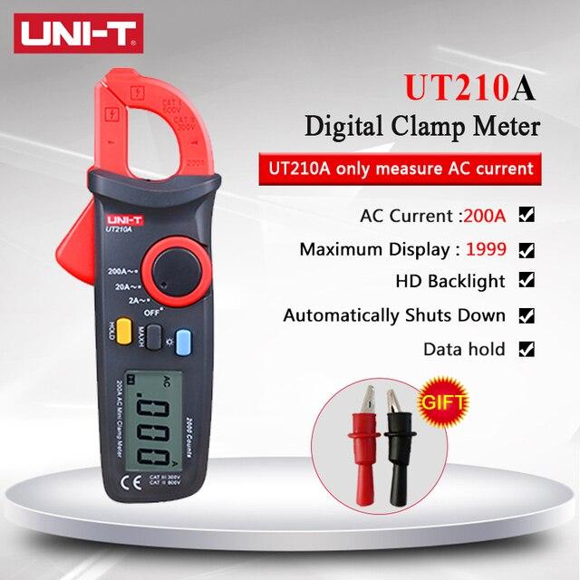 UNI T UT210A 2000 عدد صغير الرقمية المشبك متر التيار المتناوب/تيار مستمر الجهد الحالي صحيح RMS السيارات المدى VFC السعة المتعدد