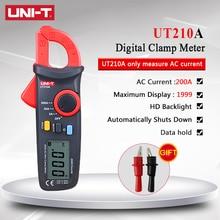 UNI T ut210a 2000 카운트 미니 디지털 클램프 미터 ac/dc 전류 전압 true rms 자동 범위 vfc 커패시턴스 멀티 미터