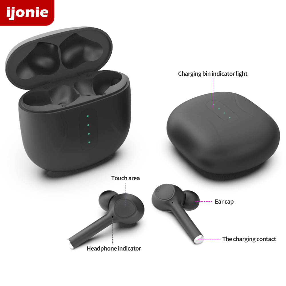 cheapest Bluetooth Headphones Earbuds tws Wireless Earphones with Microphone Sports Touch Control with charging case pk i9000 pro tws