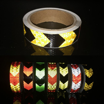 цена на Reflective Tape Bike Stickers Reflective Safety Warning Conspicuity Reflective Tape Film Sticker Light Bar Bicycle Accessories