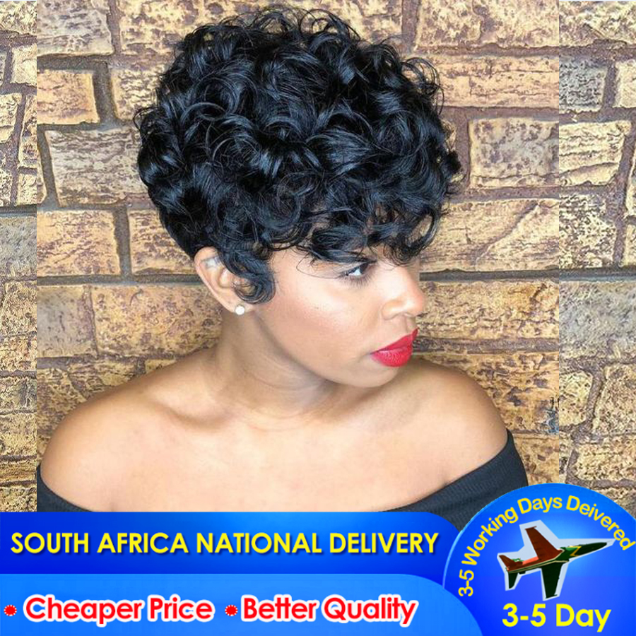 Short Human Hair Wig Curly Wave Lace Wig For Black Women Peruvian Human Hair Wigs Dorisy Curly Hair Lace Wigs