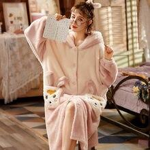 Женская одежда для сна зимняя Пижама; Одежда из кораллового