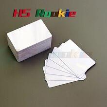 100 parlak beyaz boş mürekkep püskürtmeli yazdırılabilir PVC kart su geçirmez plastik kimlik kartı kartvizit çip Canon için Epson için yazıcı