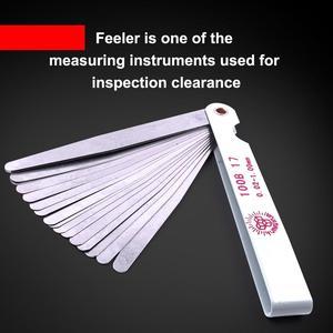 Нержавеющаясталь 100 мм Длина прямо показателя щупа 17 лезвия Gap наполнитель 0,02-1,00 мм Толщина инструмент измерения