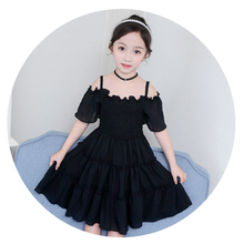 Cotton Girl Dress Summer New Clothes Casual Sundress Short Sleeve Strapless Princess