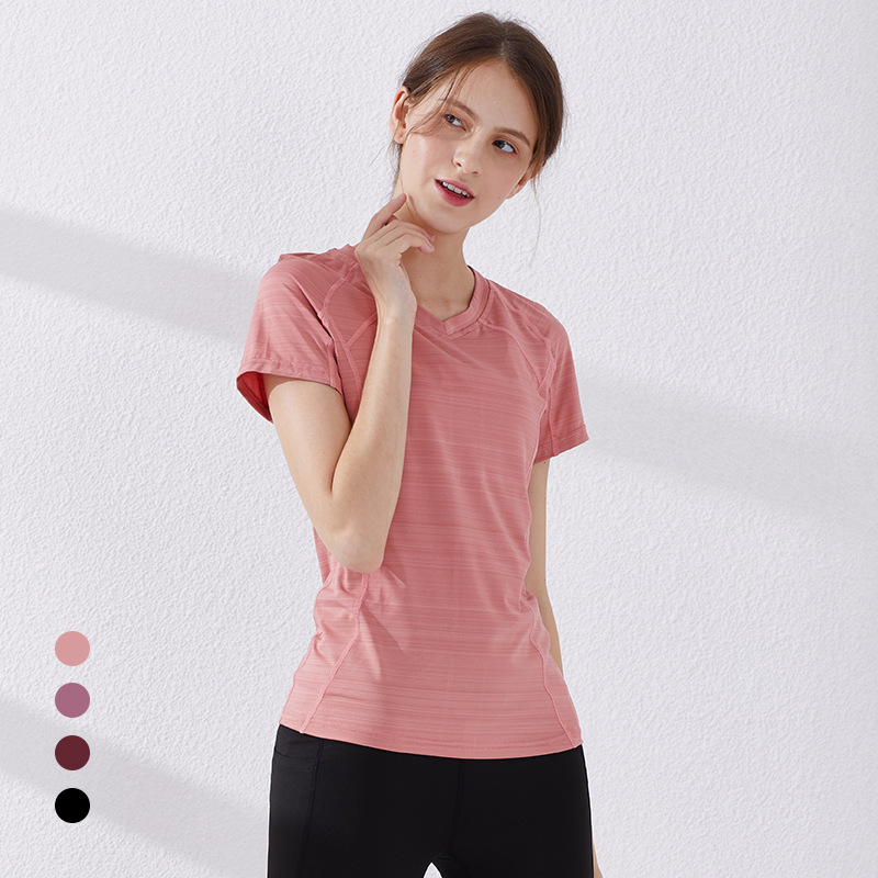 Female Sport Top Woman T-shirt Crop Yoga Gym Fitness Short Sleeve Running Training Clothes For Womem Clothing
