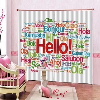 Fashion Customized 3D Curtains Color characters European Curtains Photo Painted 3D Curtain Living room