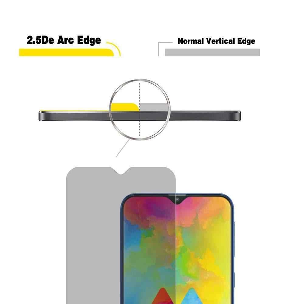 2.5D gizlilik temperli cam için Samsung Galaxy A10 A10E A20 A20E A30 A40 A40S A50 A60 A70 A70S A80 A90 anti-casus ekran koruyucu
