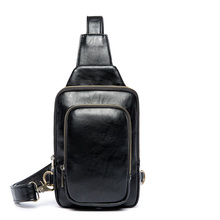 Luxury Brand Bag Men Leather Fanny Pack Chest Bag