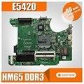 006X7M pour For DELL latitude E5420 ordinateur portable carte mère 006X7M HM65 DDR3 PGA988B 10ELT16G001-A