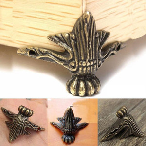 Antique Corner Protector Bronze Jewelry Chest Box Decorative Feet Leg Metal Bracket for Wood case DIY Craft Furniture Hardware
