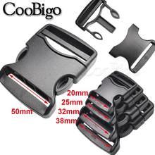 Czarna klamra plastikowa taśma odpinane klamry na pasek torby plecak bagaż odzież spodnie akcesoria 20mm 25mm 32mm 38mm 50mm