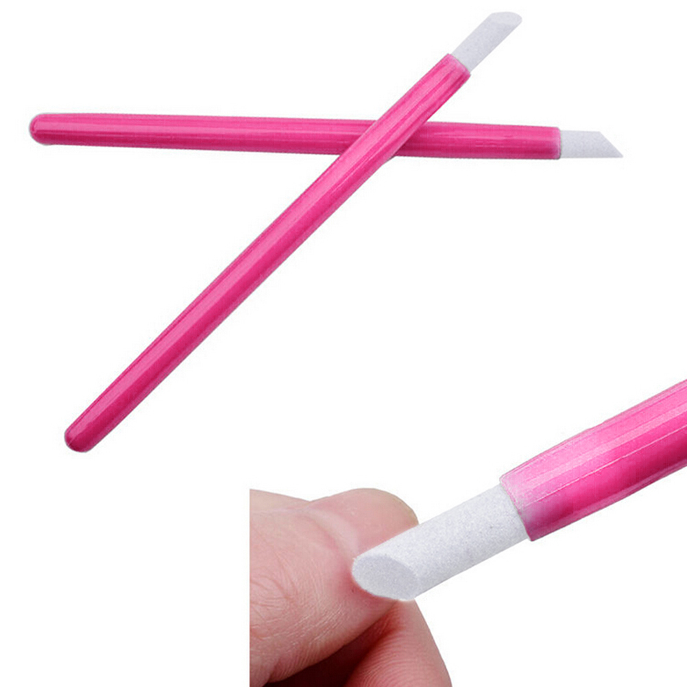 2 Pcs Nail File Professional Nail Art Equipment Manicure Pusher Nail Tools For Women Rose Color