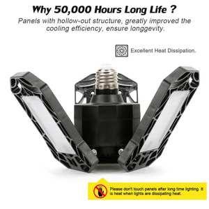 360 Degrees 40/60W Triple Garage Light Glow Deformable Light Indoor Garage Light Premium