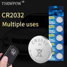 10 sztuk TSRWPOW Criginal Brand New Cr2032 bateria zielona energia 3V Cr 2032 moneta bateria zegarka do komputera zdalnego sterowania zabawka