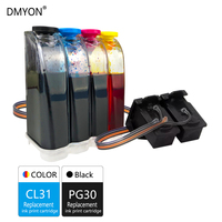DMYON PG30 CL31 CISS Bulk Ink Replacement for Canon PG30 CL31 for PIXMA IP1800 IP2600 MP140 MP210 MP470 MX300 Printer