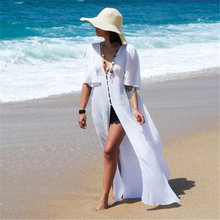 Dalla Spiaggia Del Vestito Lungo Beach Cover Up Vestido Largo Verano Mujer Costume da Bagno Cover Up Beach Kimono Sarong Robe De Plage tunica # Q677(China)