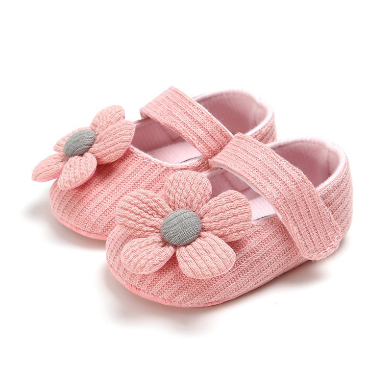 Flower Newborn Baby Girl Shoes Bowknot Anti-Slip Soft Sole Hook First Walkers Toddler Infant Baby Girl Kids Shoes 0-18M