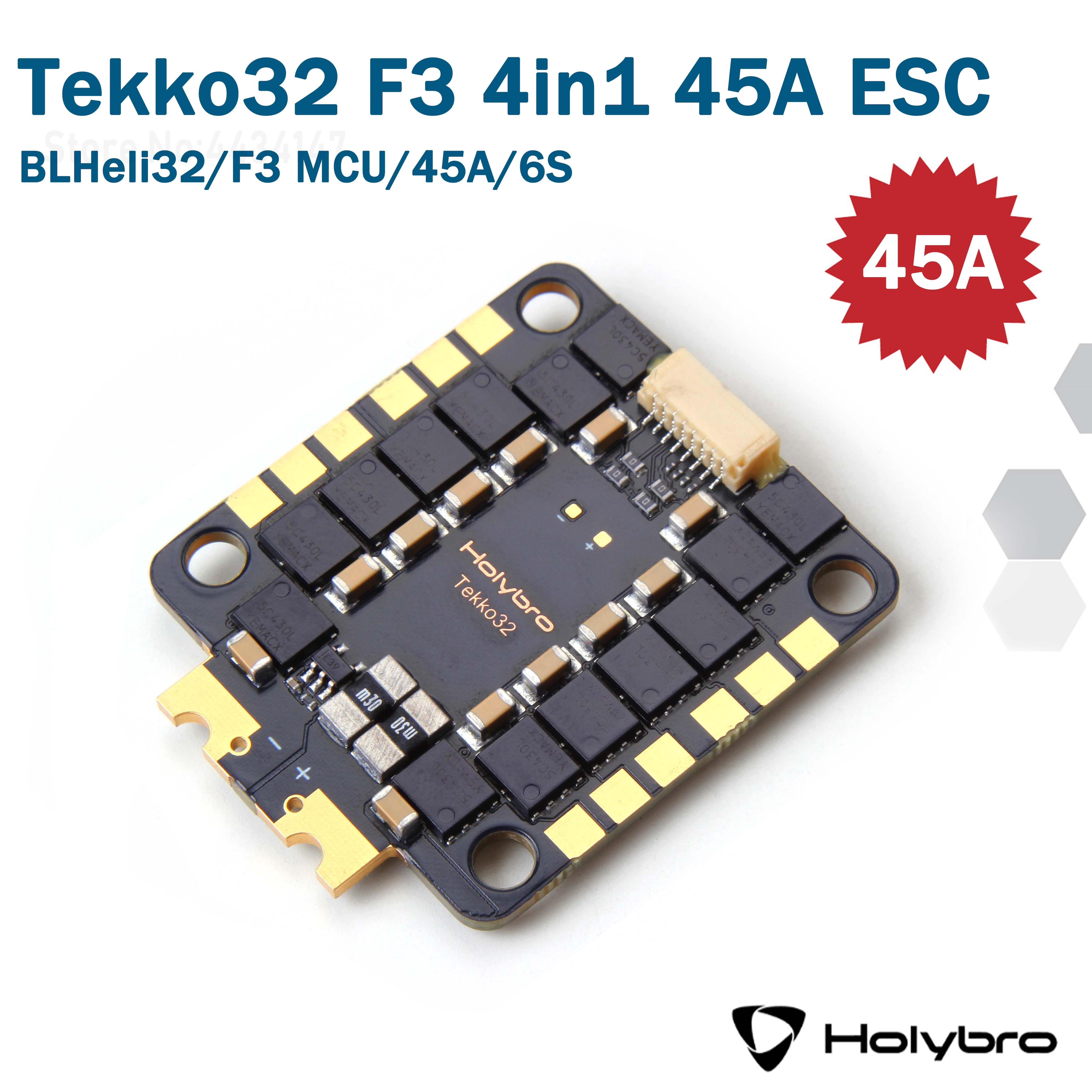 Holybro Tekko32 F3 HDV 40A 45A blheli _ 32 3-6S 30.5X30.5MM 4 в 1 бесщеточный ESC поддерживает oneshot/Multishot/Dshot PWM для радиоуправляемого дрона