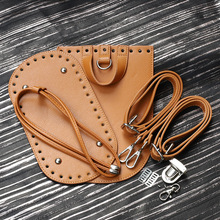 Handmade Handbag Sewing Bag Leather Cover With Holes DIY Accessories For Knitting Backpack