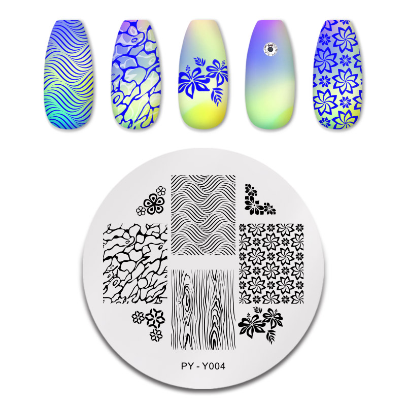 PICT YOU 12*6cm Nail Art Templates Stamping Plate Design Flower Animal Glass Temperature Lace Stamp Templates Plates Image 27