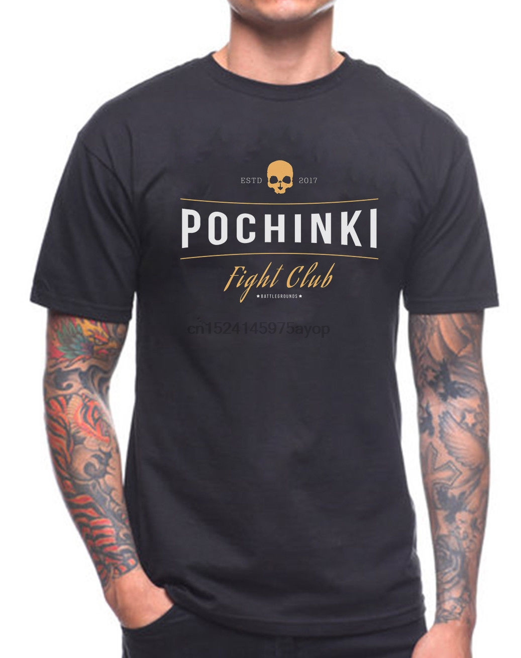 POCHINKI FIGHT CLUB T SHIRT PUBG WINNER WINNER CHICKEN DINNER GAMER GAME Casual Plus Size T-Shirts Hip Hop Style Tops Tee S-3Xl image