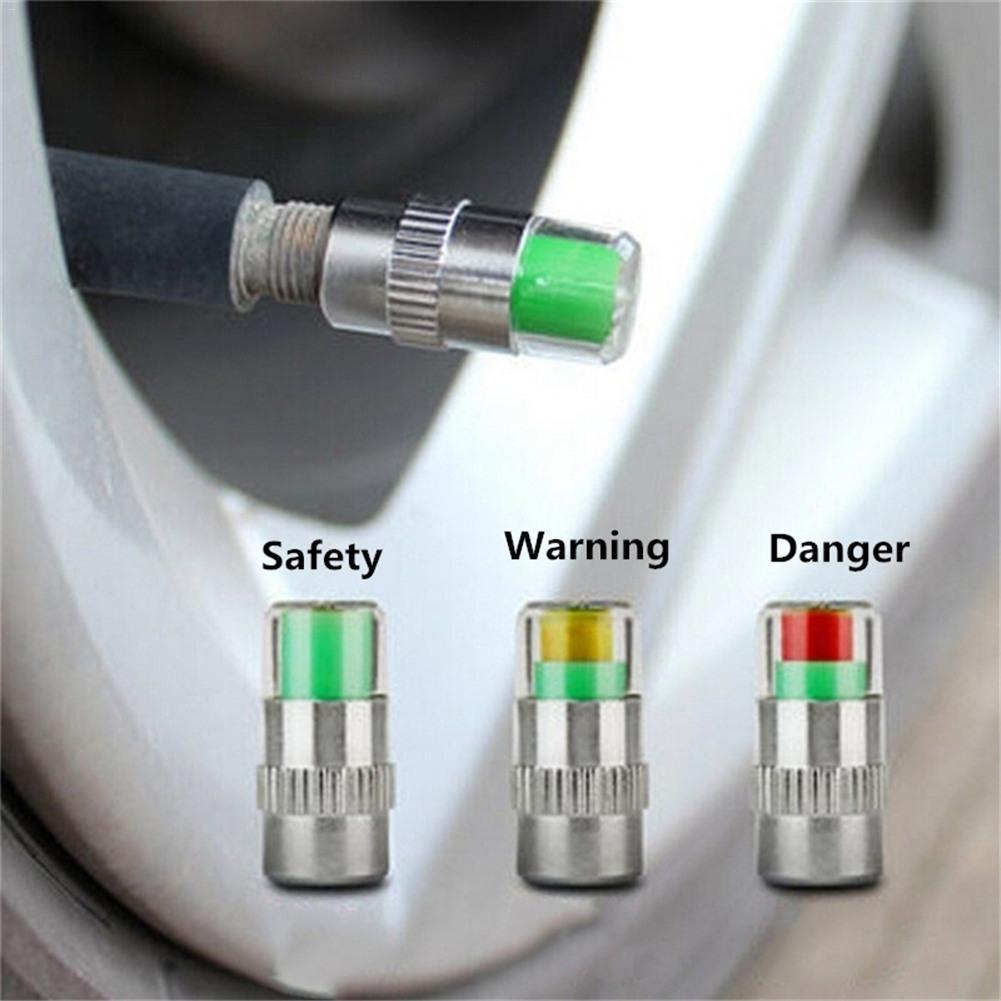 4x nouveau haute qualité voiture pneu manomètre indicateur alerte surveillance Valve bouchon capteur pas pour moto Auto voiture accessoires
