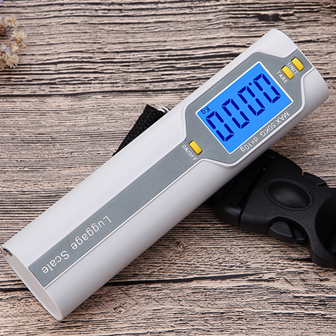 50kg//10g Weight LCD Display Portable Electronic Travel Hanging Luggage Scale