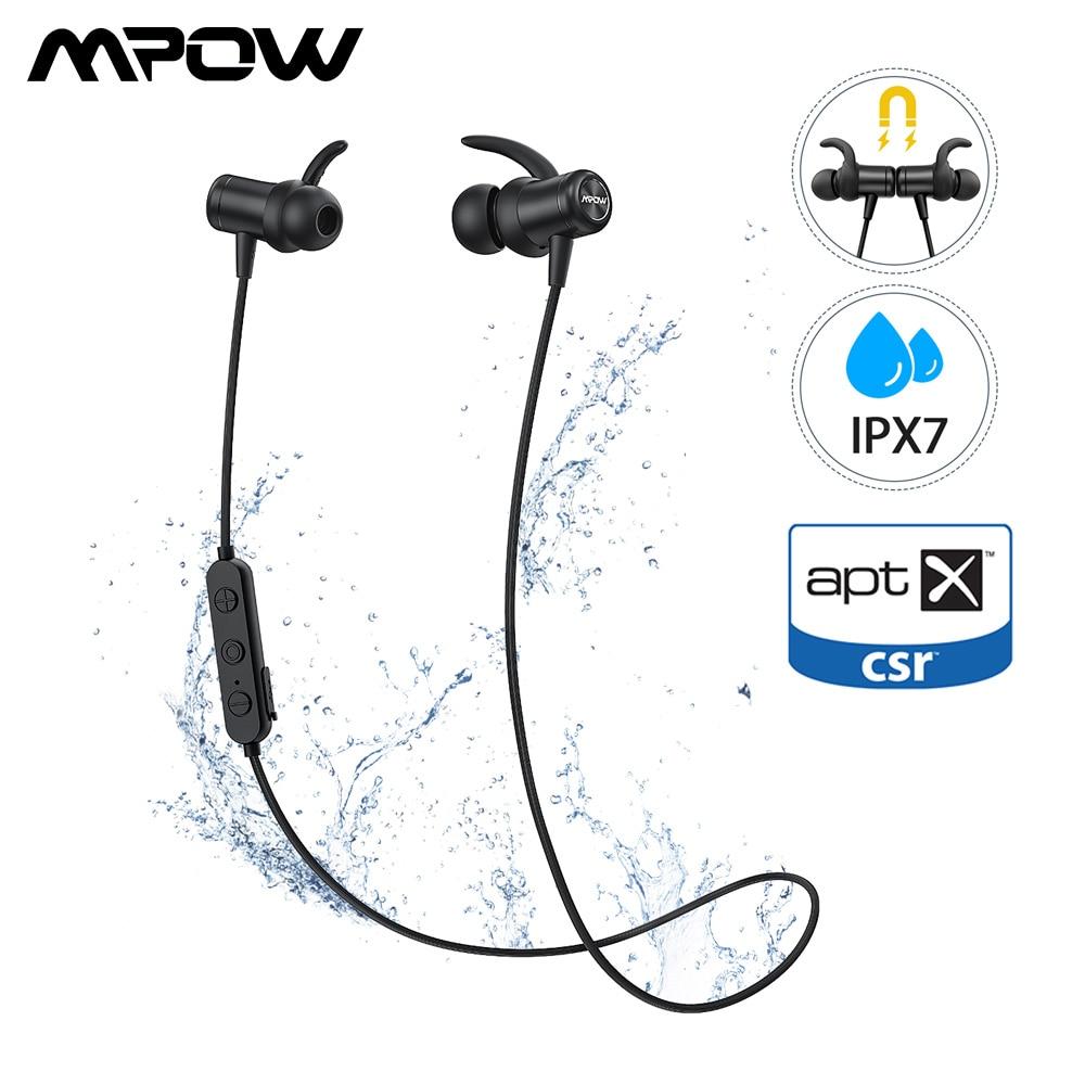 Где купить Mpow S11 ipx7 водонепроницаемые спортивные беспроводные наушники Bluetooth 5,0 Поддержка APTX 9 часов время игры для Xiaomi huawei iPhone Xs XR