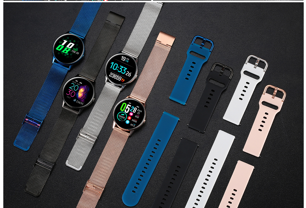 Women IP68 Waterproof Smart Watch for iPhone xiaomi LG with Bluetooth and Heart Rate Monitor Fitness Tracker 26