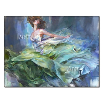 Sexy Nude Lady Dancing Oil Painting Handmade Wall Canvas Decor Picture Art Unframed Bedroom Decoration Canvas Wall Art Paintings