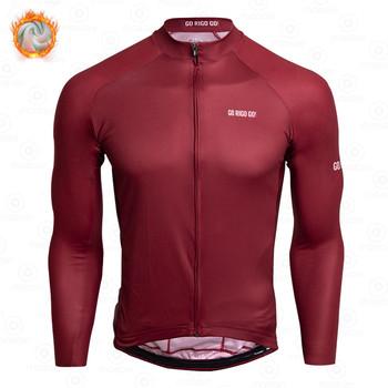 GO RIGO GO nowy zimowy termiczny polar rowerowa koszulka z długim rękawem jazda na rowerze mężczyźni odzież Team rower odzież Ropa Ciclismo tanie i dobre opinie gobik rapha CN (pochodzenie) POLIESTER Pełne cycling shirt Winter Koszulki Zamek na całej długości Dobrze pasuje do rozmiaru wybierz swój normalny rozmiar