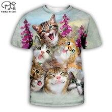 animal tee Tiger/wolf/lion/cat/dog/cow series t shirt men women 3D print sweatshirt harajuku style t shirt suit tops 7XL AN-013 men cow print tee