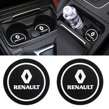 1 / 2pcs Car Coaster Decoration Accessories Water Cup Slot Case For Renault Megane 2 3 Duster Logan Clio Laguna Auto Car Styling