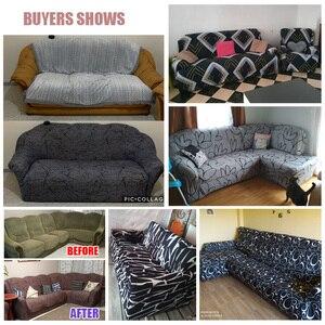 Image 5 - طقم غطاء أريكة مرن من القطن, غطاء قياسي للأريكة، لغرفة المعيشة، غطاء للحيوانات الأليفة، كرسي بذراعين، غطاء ركن الأريكة