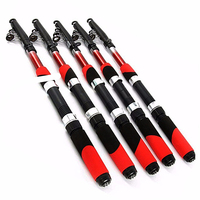 1.8 m 2.1 2.4 2.7 3.0 3.6 4.5 portátil telescópica vara de pesca cnc alumínio pólo de pesca viagens mar pesca fiação vara|Varas de pescar| |  -