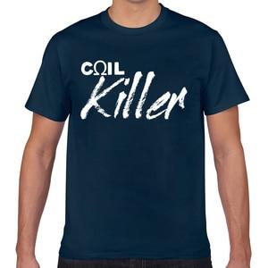 Tops T Shirt Men coil killer vape vaping vaper Fashion White Geek Cotton Male Tshirt XXX(China)