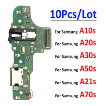 10 قطعة USB شاحن ميناء الشحن قفص الاتهام موصل مجلس الكابلات المرنة لسامسونج A10S A20S A30S A50S A107 A207 A307 A21s A70s A12