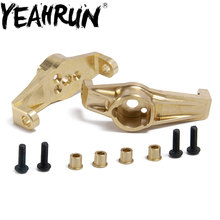 YEAHRUN 1Pair Heavy Duty Brass Front Hub Carrier for Traxxas TRX4 1/10 RC Crawler Counterweights