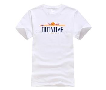 fashion 2019 trend T shirt Back to the Future men s white Printed men Brand Clothing Hip Fashion summer T shirt
