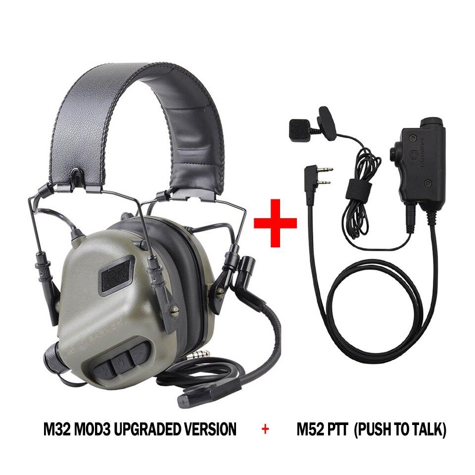 OPSMEN Tactical Earmor M32H MOD3 Electronic Headphones AUX NATO PTT FAST Helmet