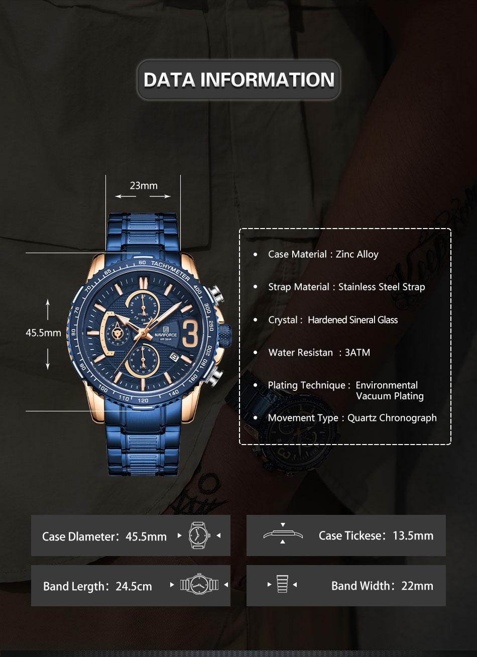 Naviforce NF 8017 Men's Watch 8