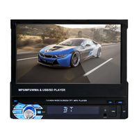 7 Folding Touch Screen 1Din Car Stereo MP5 Player Bluetooth Audio Video Player with Remote Control