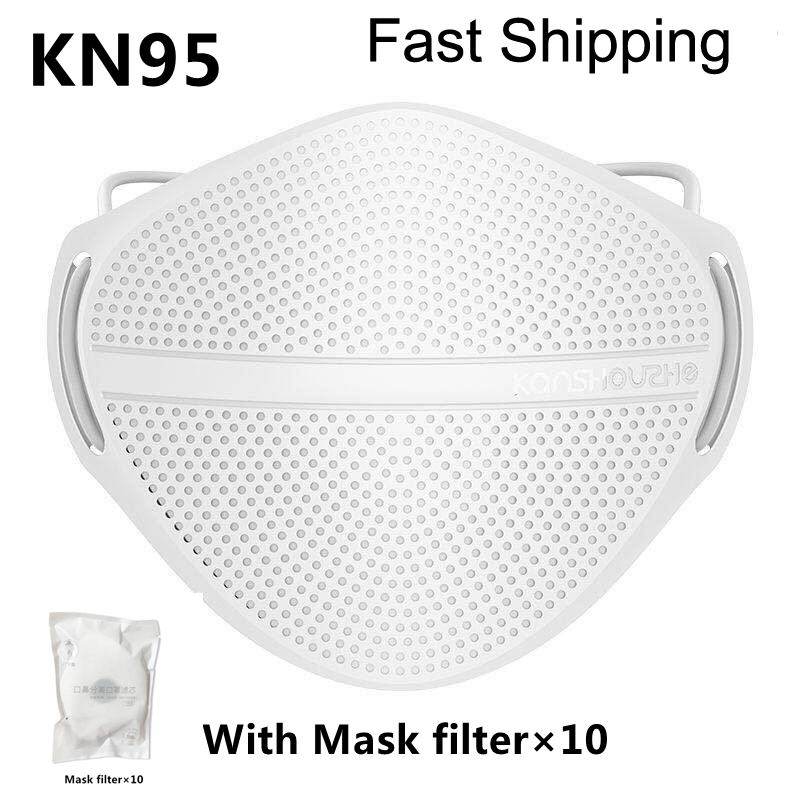 Reusable KN95 Mask PM2.5 Mouth Nose Disconnect-type Mask N95 Anti-dust Protective Masks Activated Carbon Patented Product