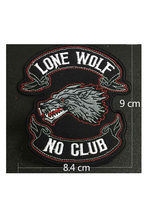 Patch pour veste soutien Animal loup solitaire Patch cool, coudre/repasser(China)